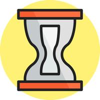 Hourglass line filled icon