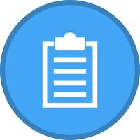 Clipboard list filled icon