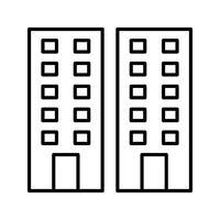 Kontor byggnad svart ikon