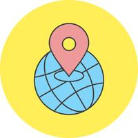vector world location icon