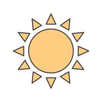 Vektor-Sonne-Symbol