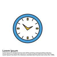 Icono de reloj de vector