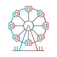 Ilustración de línea gradiente icono perfecto o Pigtogram