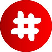Icono de vector hash