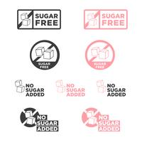Zuckerfreies Symbol.