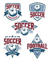 Emblèmes de football de vecteur