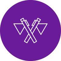 Vector icono de hacha
