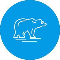 Ícone de urso de vetor