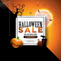 Halloween Sale banner illustration