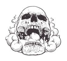 Smoking Skull Art