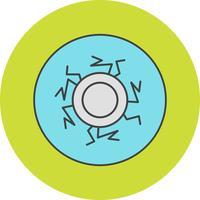 icono de vector ojo sangre
