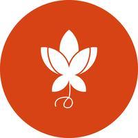 icona del fiore vettoriale