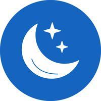 vektor månen stjärnor ikon