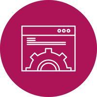 Icono de sitio web de vector