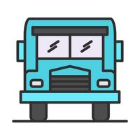 Bus line filled icon