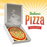 Hete pizza vector