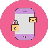 icona del messaggio mobile vettoriale