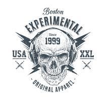 Impresión del cráneo del grunge