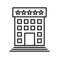 Hotel lijn zwart pictogram