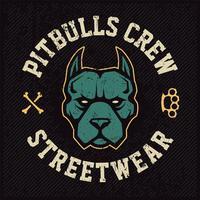 diseño del emblema de la mascota pitbull