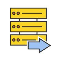 Server line filled icon vector