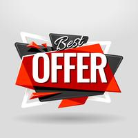Best Offer Geometric Banner