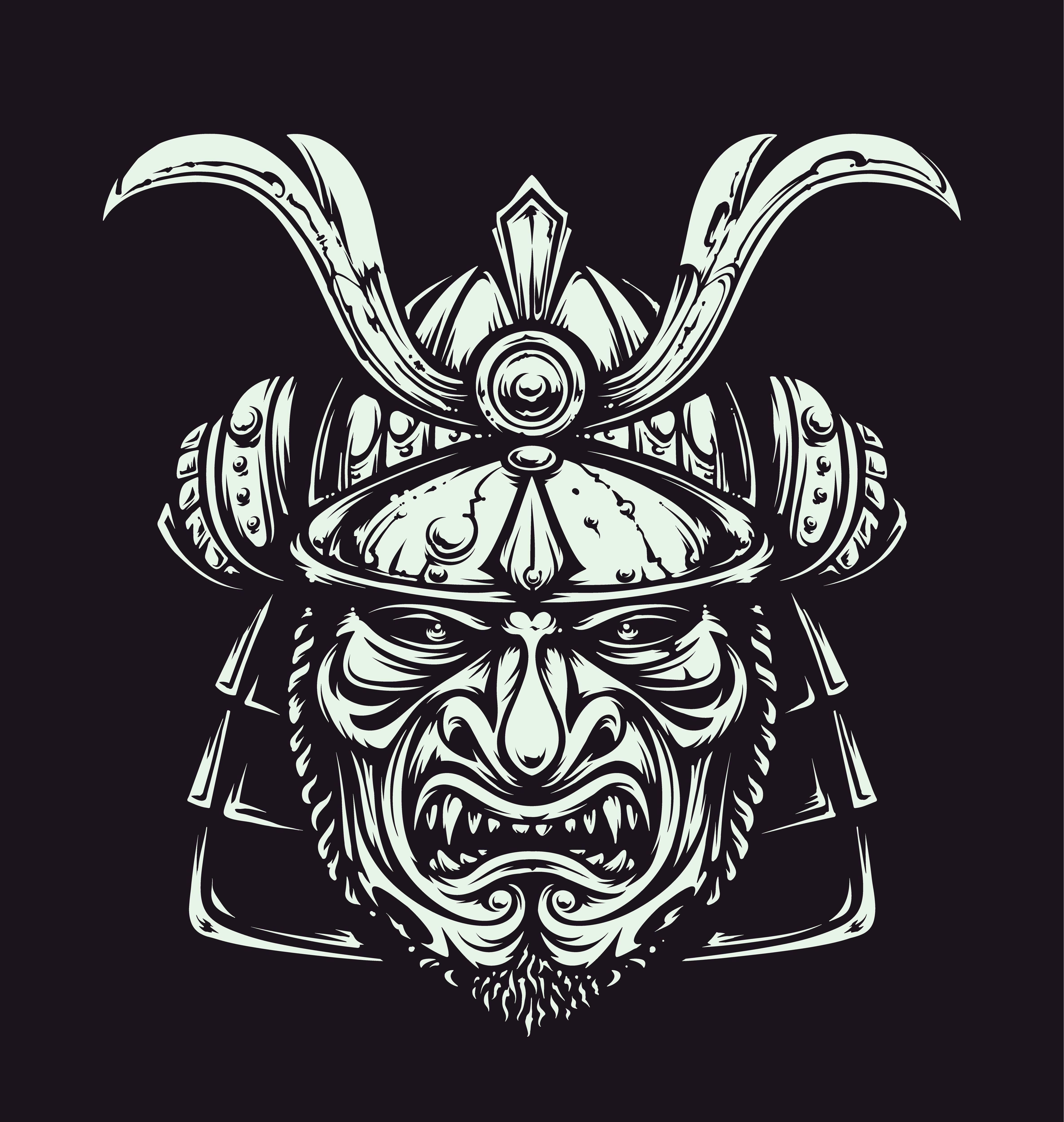 Vector Samurai Mask Download Free Vectors Clipart Graphics Vector Art