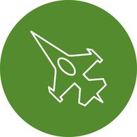 Vector fighter jet icon