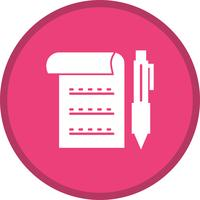 Business document filled icon vector