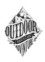 Outdoor Hand Drawn Vector Lettering