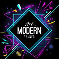 Bannière d'art moderne