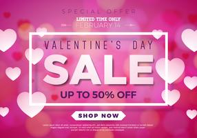 Valentines day sale illustration