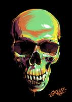 Paint Graffiti Skull