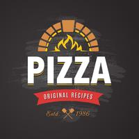 vector de pizza emblema