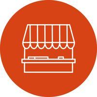 Icono de la tienda de vectores