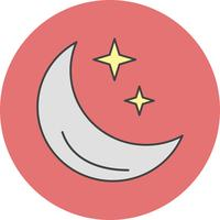 vector moon stars icon