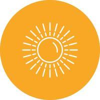 Vetorial, sol, ícone