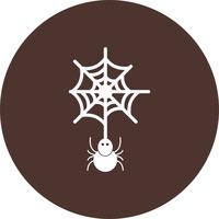 vector spider web pictogram