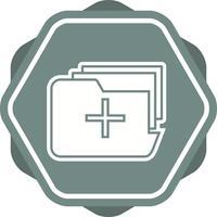 Medical folder filled icon vector