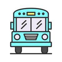 School bus line filled icon