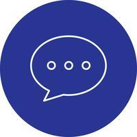 Icono de mensaje de vector
