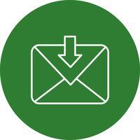 Icône de message de vecteur