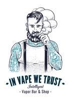 arte do hipster do vaper