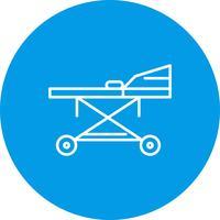 Vector strecher pictogram
