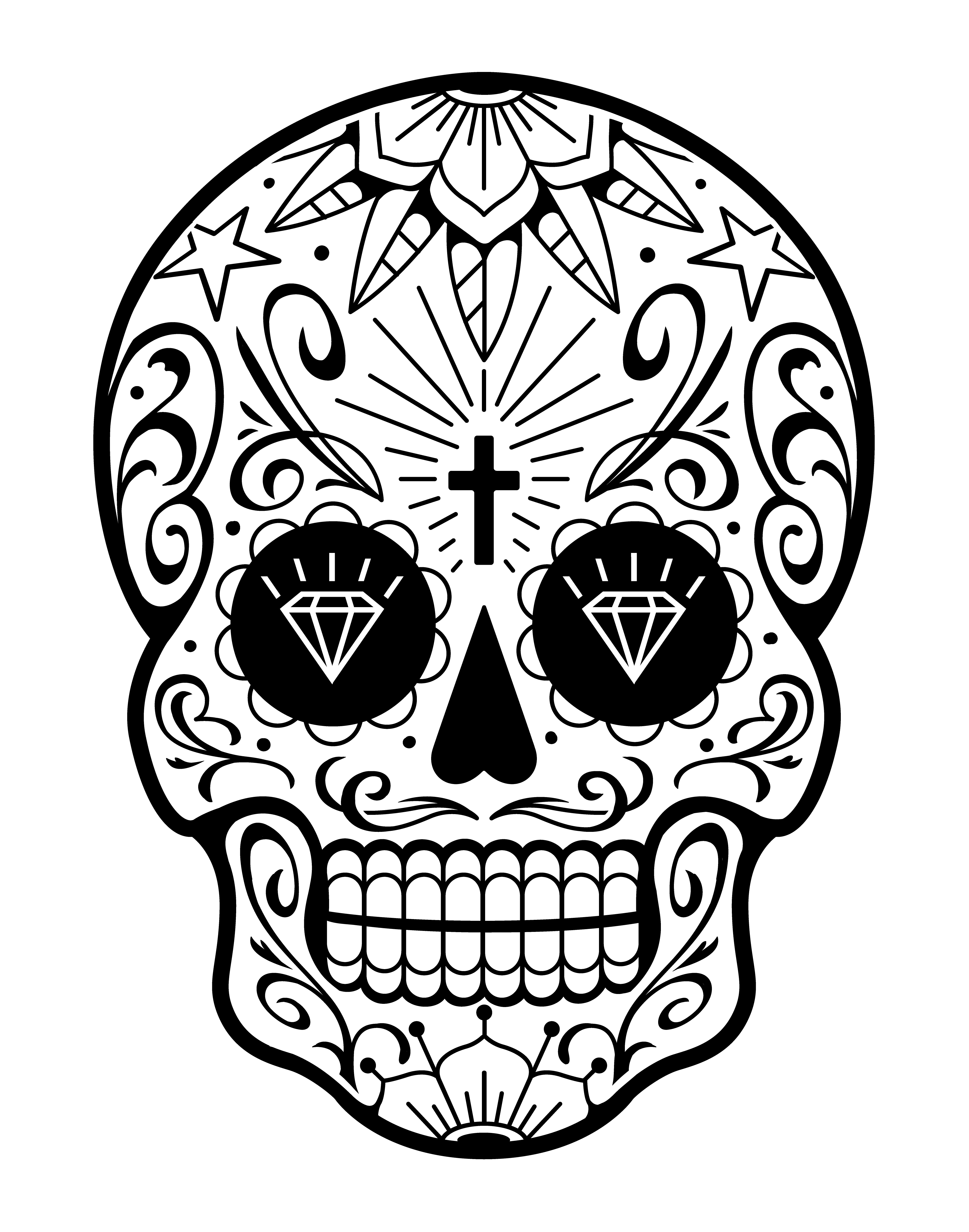 Caveira Mexicana De Vetor Com Padroes Download Vetores Gratis