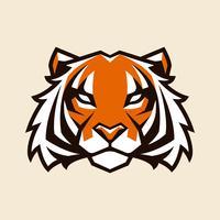 Mascote de vetor de tigre