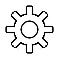 Icono de línea de ajustes negro