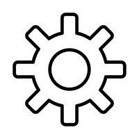 Inställningar linje svart ikon