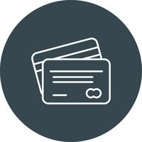 Vector atm card icon