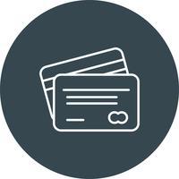 Vector ATM-kaart pictogram